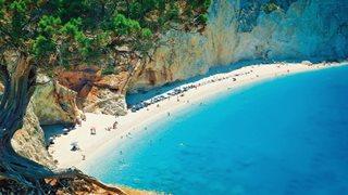 Der berühmte Strand Porto Katsiki auf Lefkas