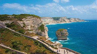 Die Felsklippen von Bonifacio