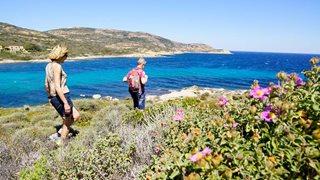 Wandern in den hohen Bergen der Balagne in Korsika