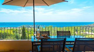Genießen Sie den wunderschönen Meerblick von allen Unterkünften in der Anlage Funtana Marina.