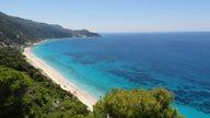 Karibisch anmutender Traumstrand Milos Beach auf Lefkas