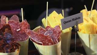 Besondere Spezialitäten Menorca Käse und Wurst