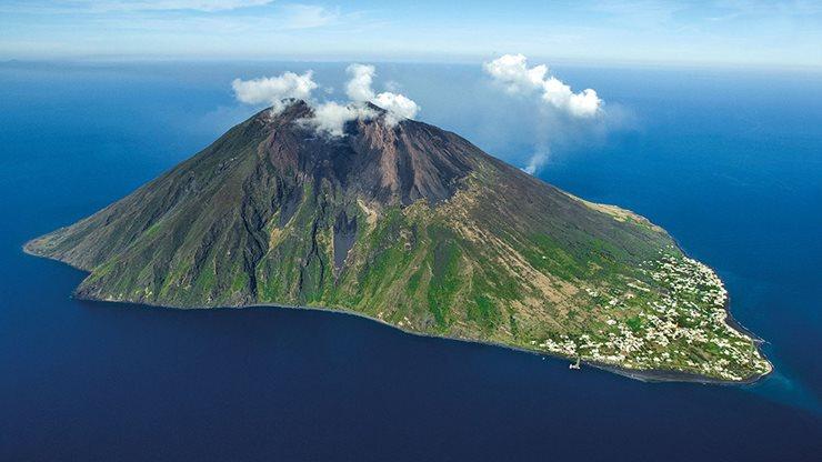 Die Vulkaninsel Stromboli