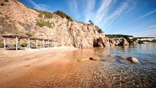 Der Strand beim Hotel U Capu Biancu ist meist ausschließlich von Hotelgästen genutzt.