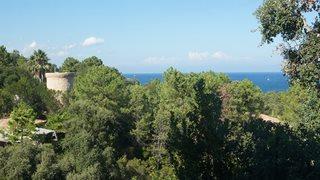 Vom Wohnzimmer Ihrer Villa Mare e Monte aus haben Sie einen schönen Blick in die Natur und teilweise sogar aufs Meer.