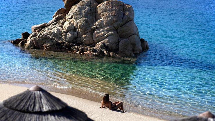 Ein wunderschöner Strand in Korsika